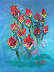 INDIAN PAINTBRUSH Original Oil painting By Larry Wall