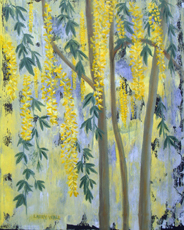 LABURNUM TREE painting by Larry Wall