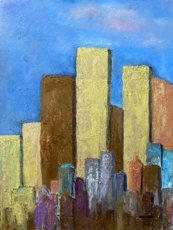 VERTICAL ACRES OIL PAINTING BY LARRY WALL