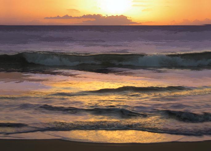 KAMAOLE BEACH SUNSET by Larry Wall