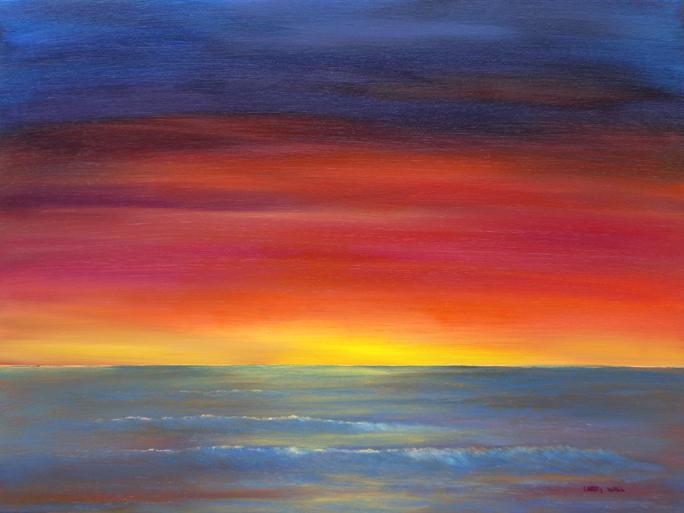 Image Gallery ocean sunset paintings