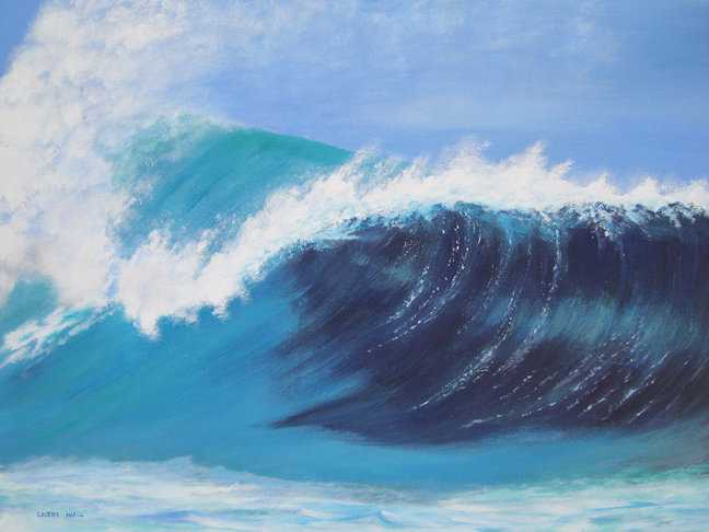 "PERFECT WAVE Original Acrylic - 18"" X 24"" Paintings by ..."