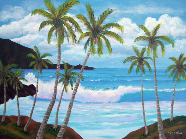 original oil paintings for sale by artist larry wall ocean surf