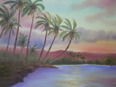 TROPICAL COVE Original Oil - 18
