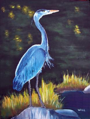 Blue Heron Oil Paintings