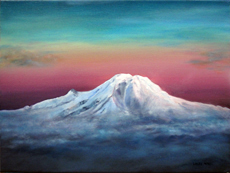 Mt Rainier painting