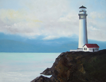 OREGON LIGHTHOUSE # 2 Original Oil