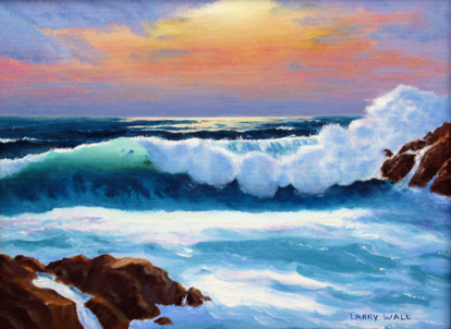 GO TO GALLERY: click on painting ocean sunset 2