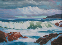 Ocean Wave - Seascape - Marine - Oil Paintings Original Oil Paintings by Larry Wall - Ocean Surf Waves, Seascape, Marine, Scenic